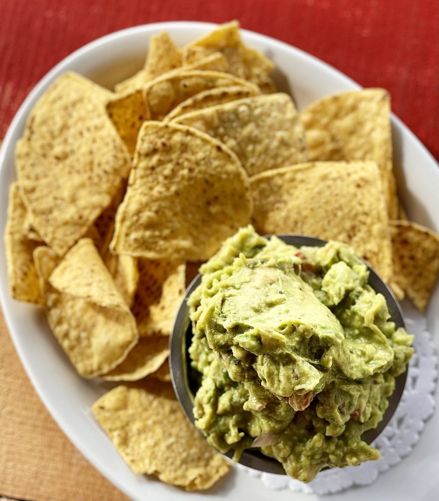 Ginas Mexican Cafe Guac and Chips